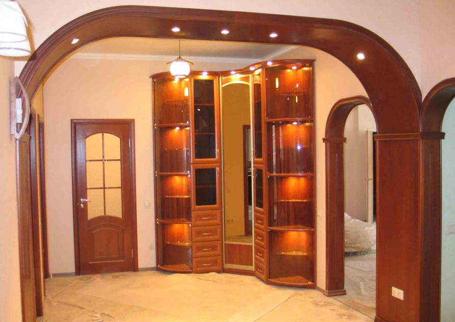 Декоративная арка в квартире своими руками