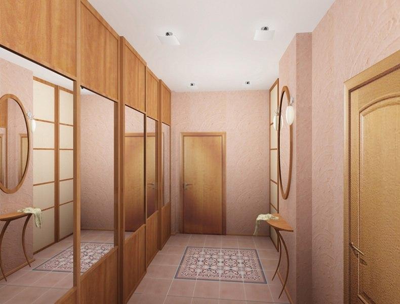Прихожая для узкого коридора дизайн