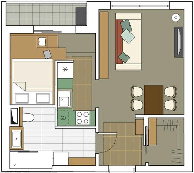 Дизайн и планировка квартиры 44 кв м
