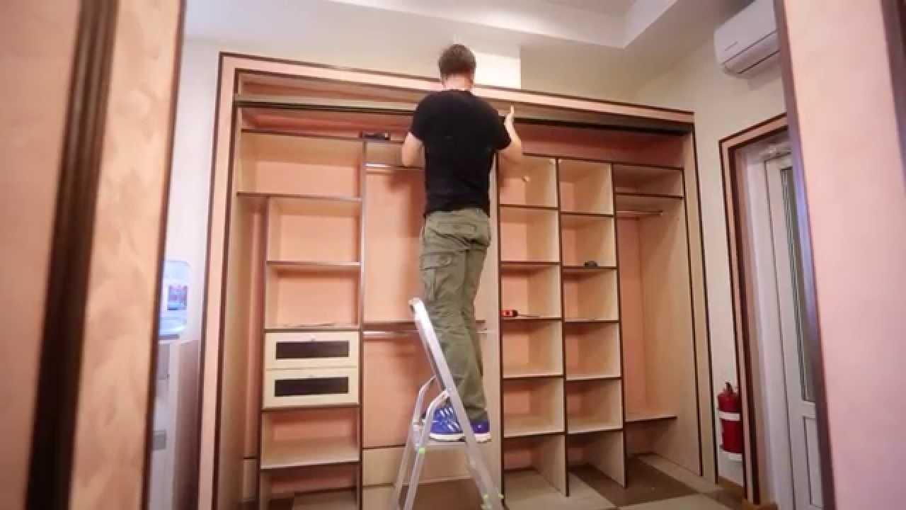 Монтаж шкафа купе своими руками