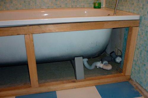 Картинки по запросу экран для ванной своими руками