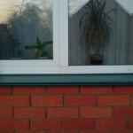 Монтаж отливов на пластиковые окна