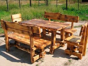 Чертеж стола из дерева с размерами