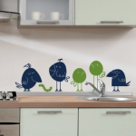 Как своими руками сделать рисунок на стене в кухне