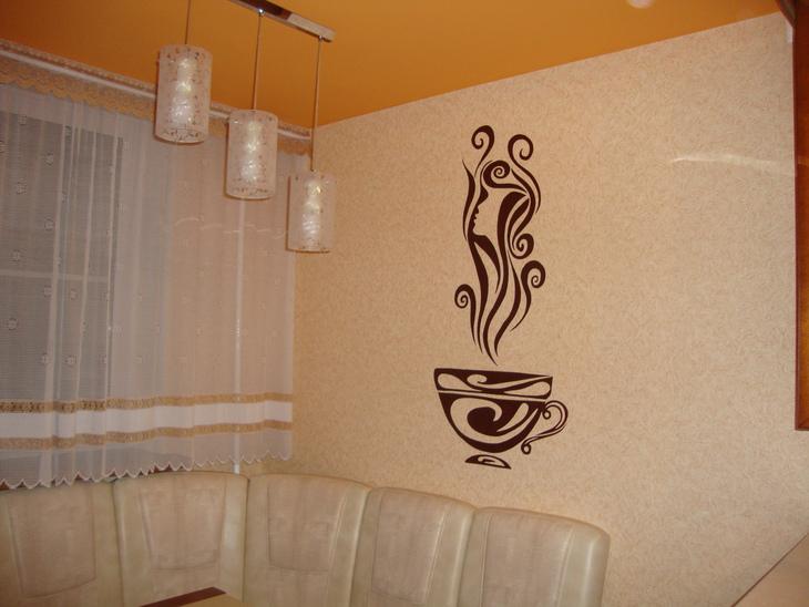 Рисунки на стенах кухни своими руками фото 86