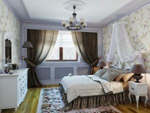 Прованс в спальной комнате