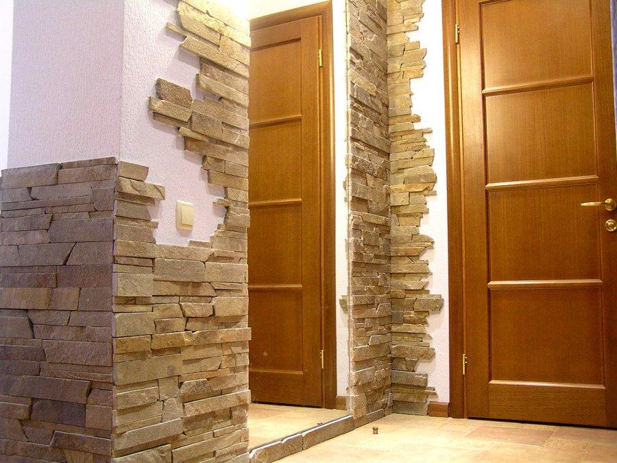 Отделка стен под камень фото