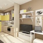 Как разработать современный функциональный дизайн квартиры-студии 27 кв. м