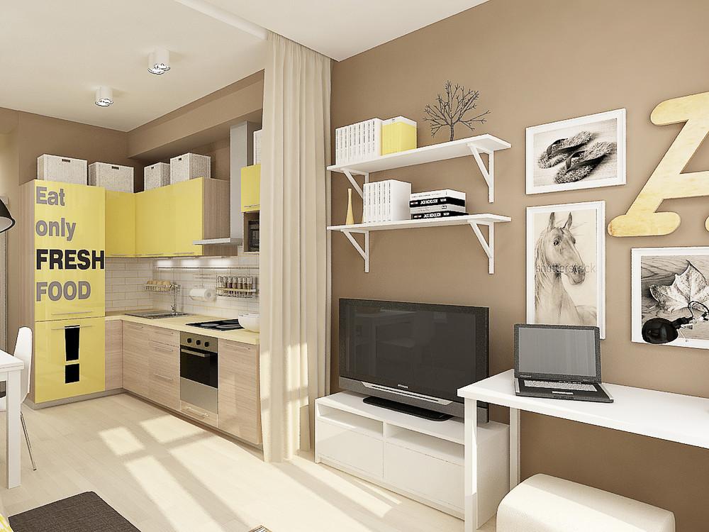 Квартиры студии 27 кв.м фото дизайн