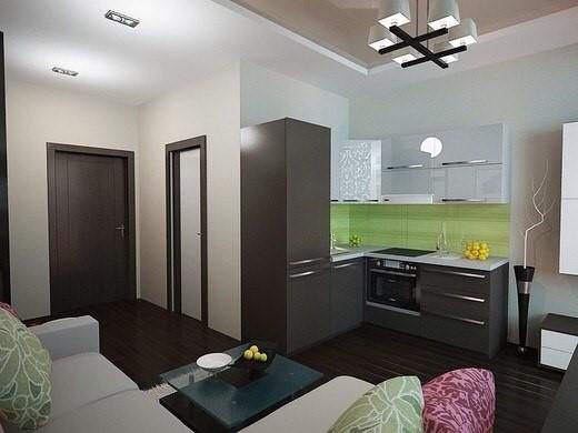 Интерьер квартиры-студии 18 кв.м фото