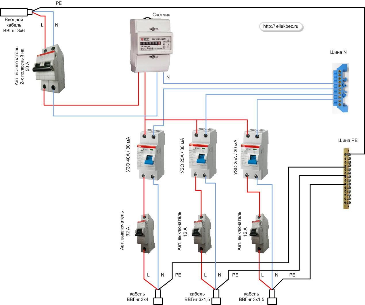 Устройство защиты электроприборов схема