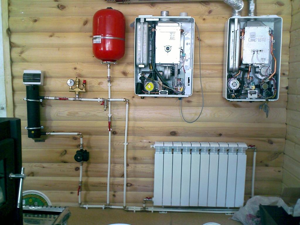 система отопления схема в деревянном доме