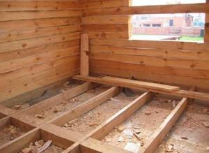 Устройство и монтаж пирога пола в деревянном доме