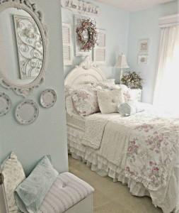 оформить спальню в стиле шебби-шик